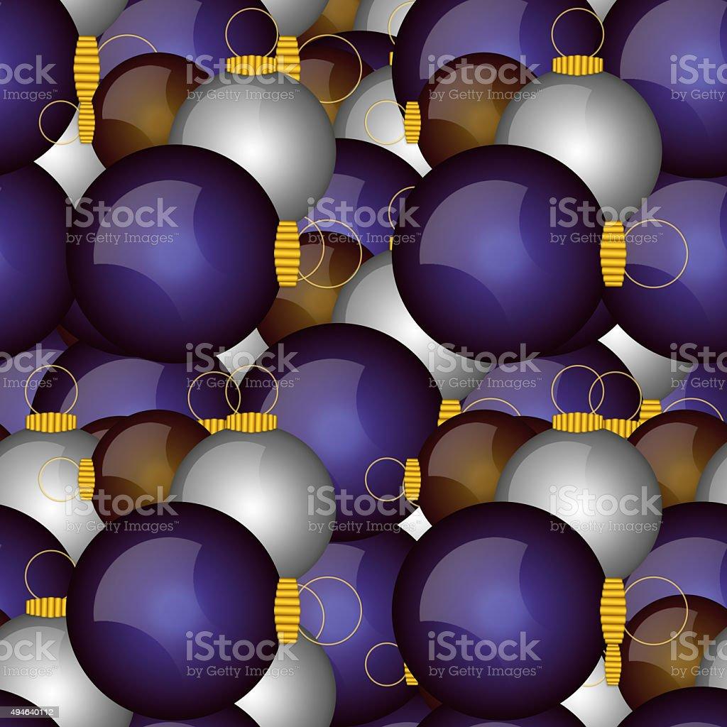 Seamless illustrated christmas balls ornaments stock photo