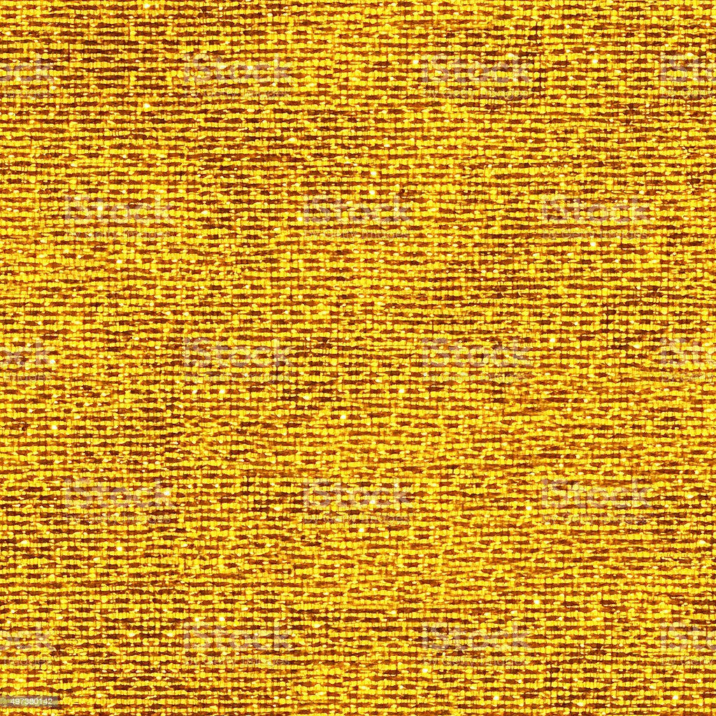 Seamless lined multicolored gold textile - texture with visible threads stock photo
