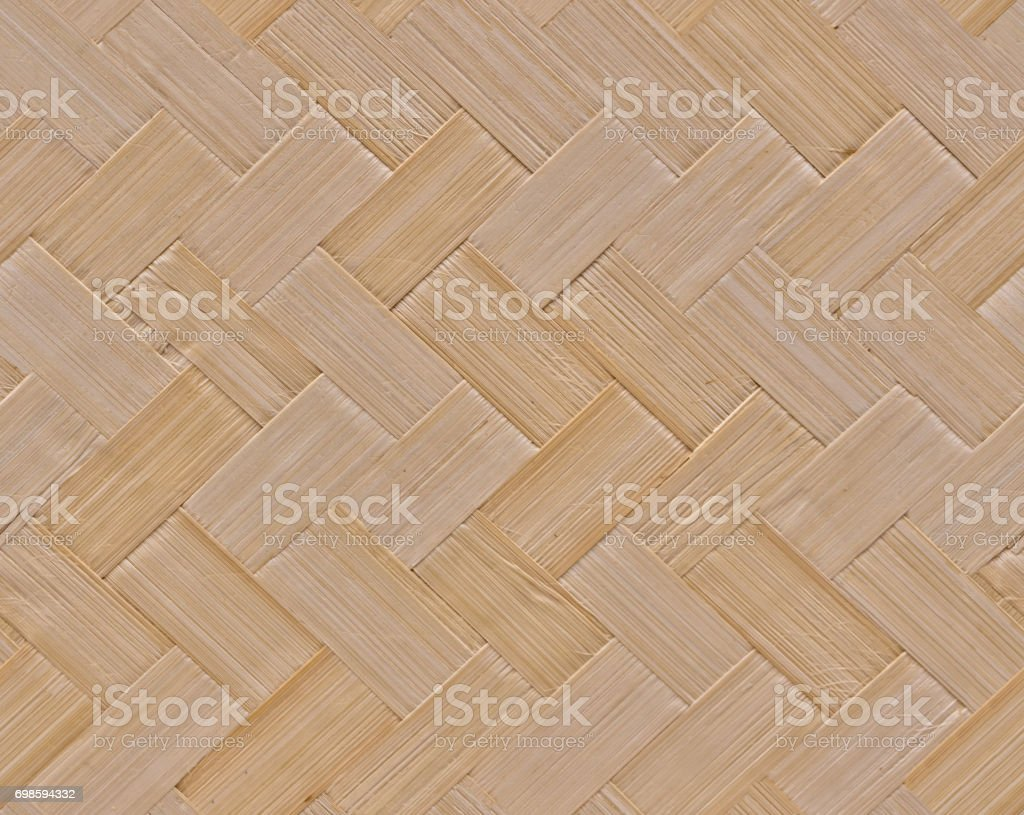 Seamless natural bamboo wicker background, wicker texture stock photo