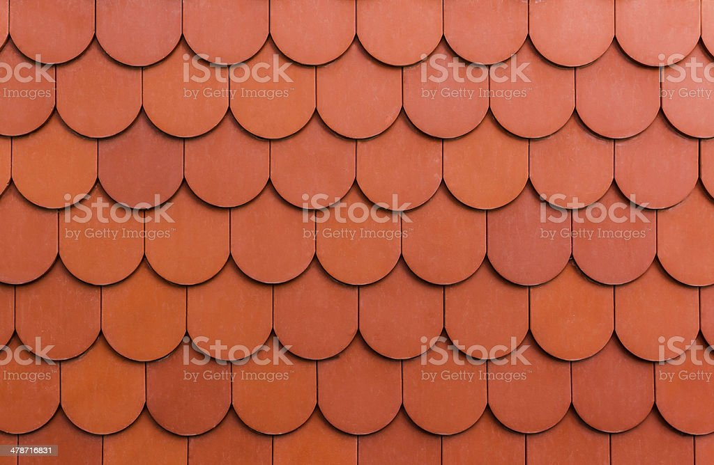 Seamless orange roof  tile texture background. stock photo