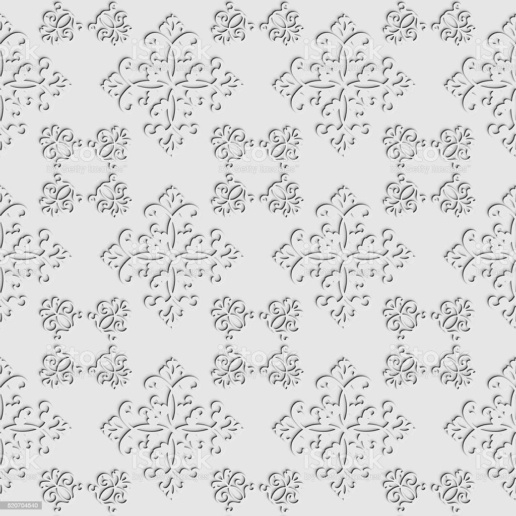 Seamless ornamental 3D pattern. stock photo