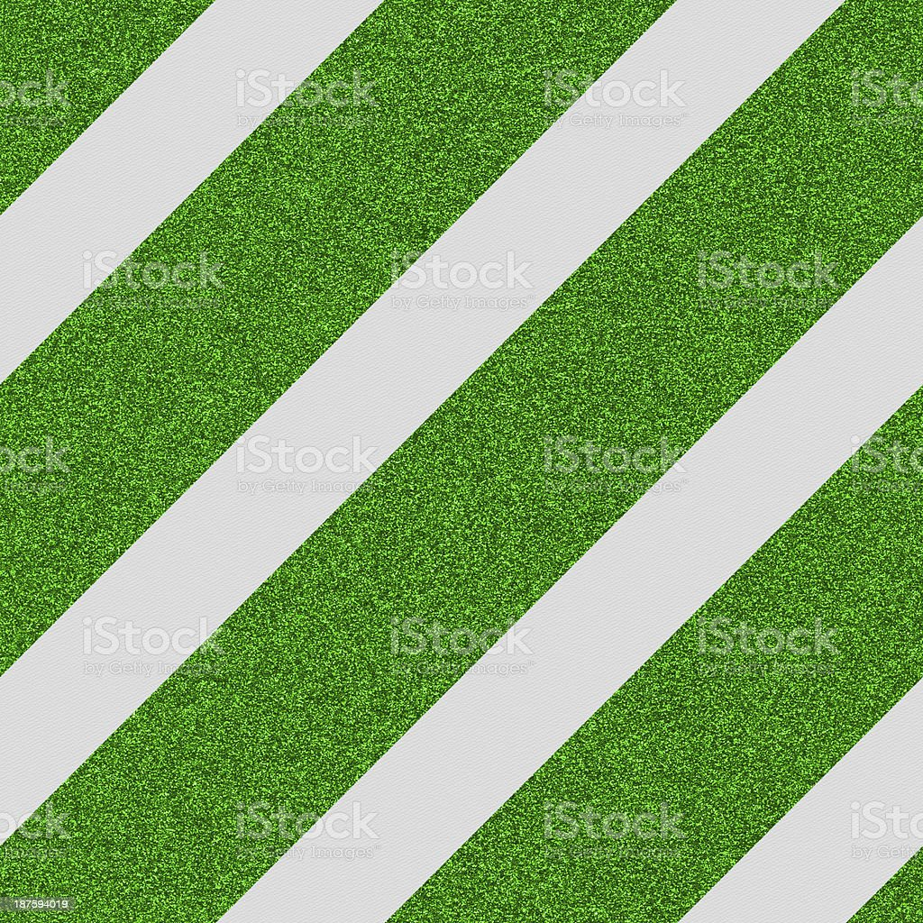 Seamless paper with green glitter stripes royalty-free stock photo