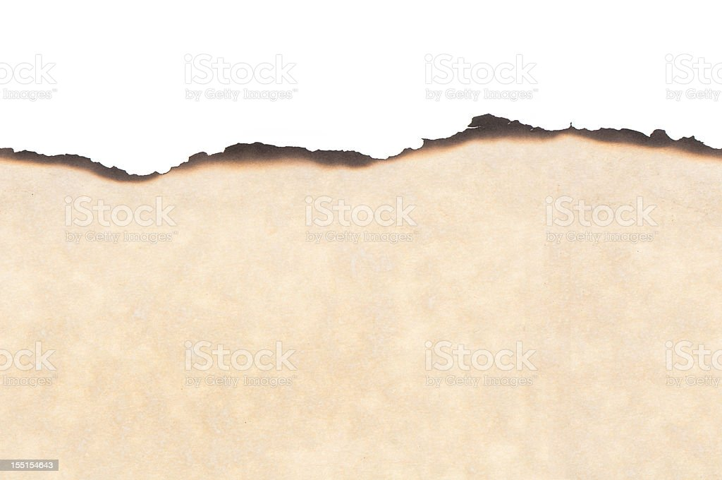 Seamless parchment paper w/burned edges stock photo