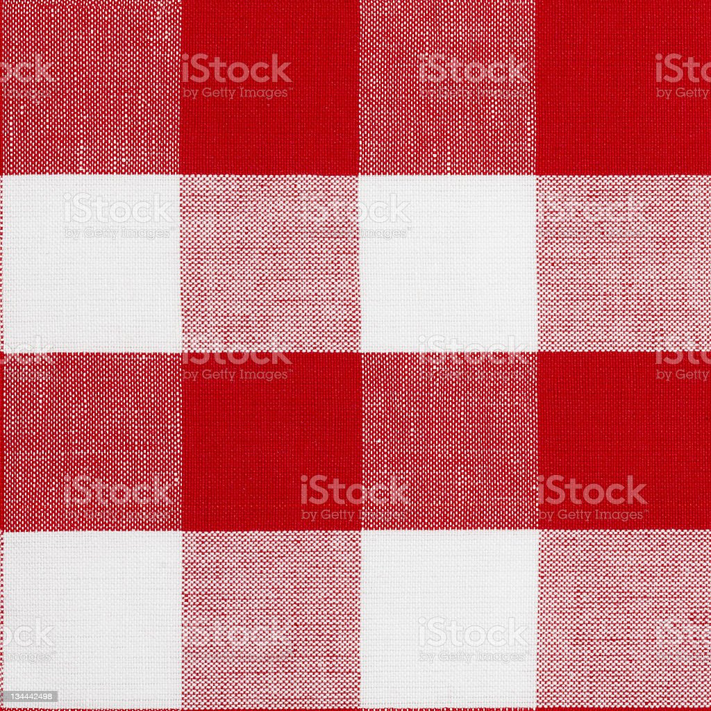 Seamless pattern of red gingham traditional tablecloth stock photo