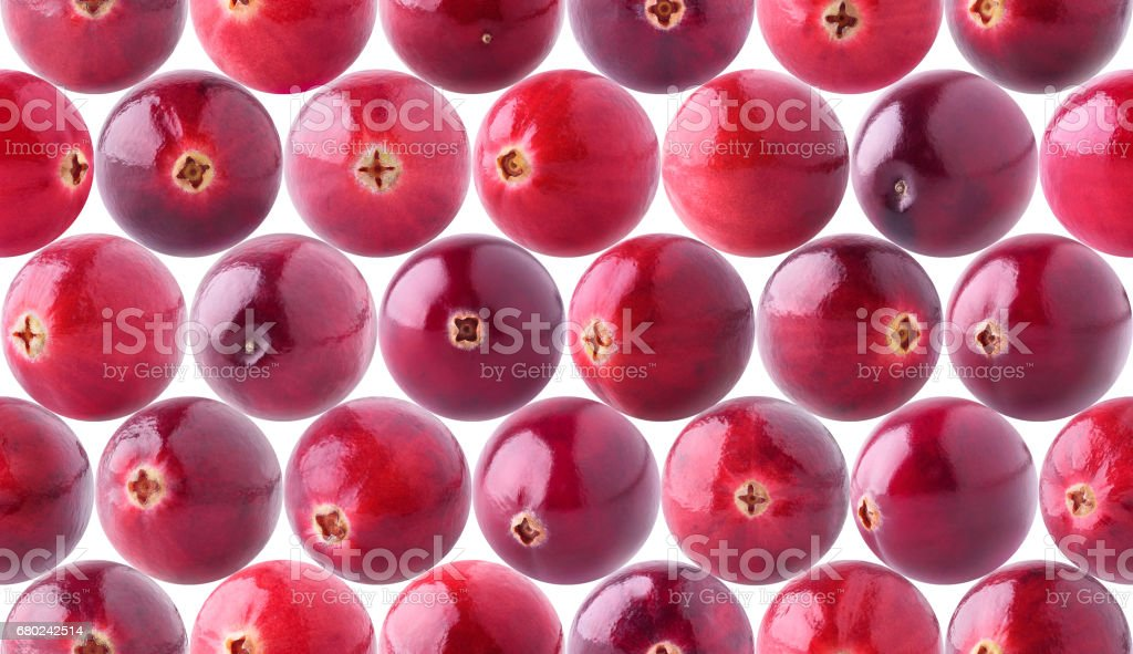 Seamless pattern with cranberries stock photo