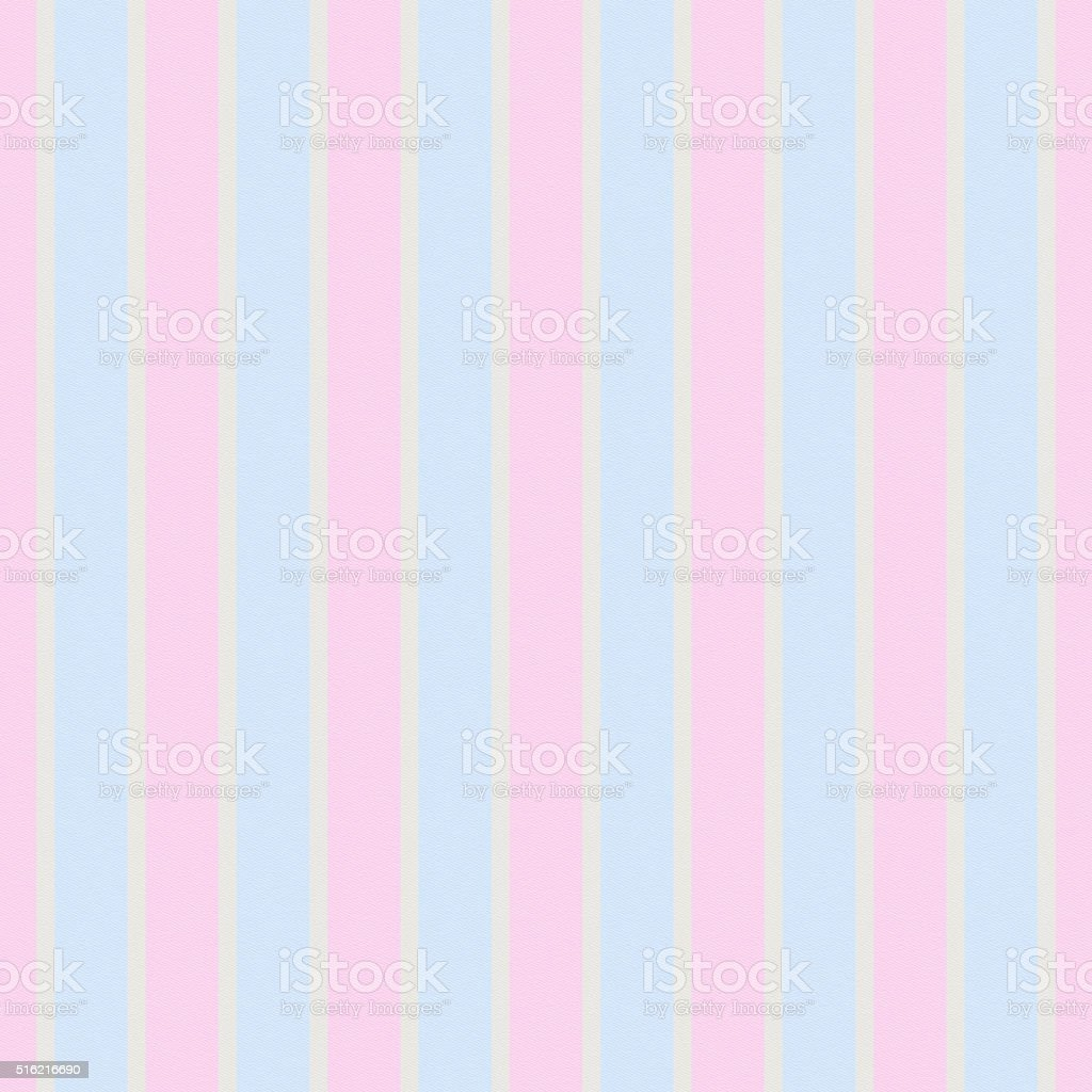 Seamless pink and powder blue stripe pattern on white paper stock photo