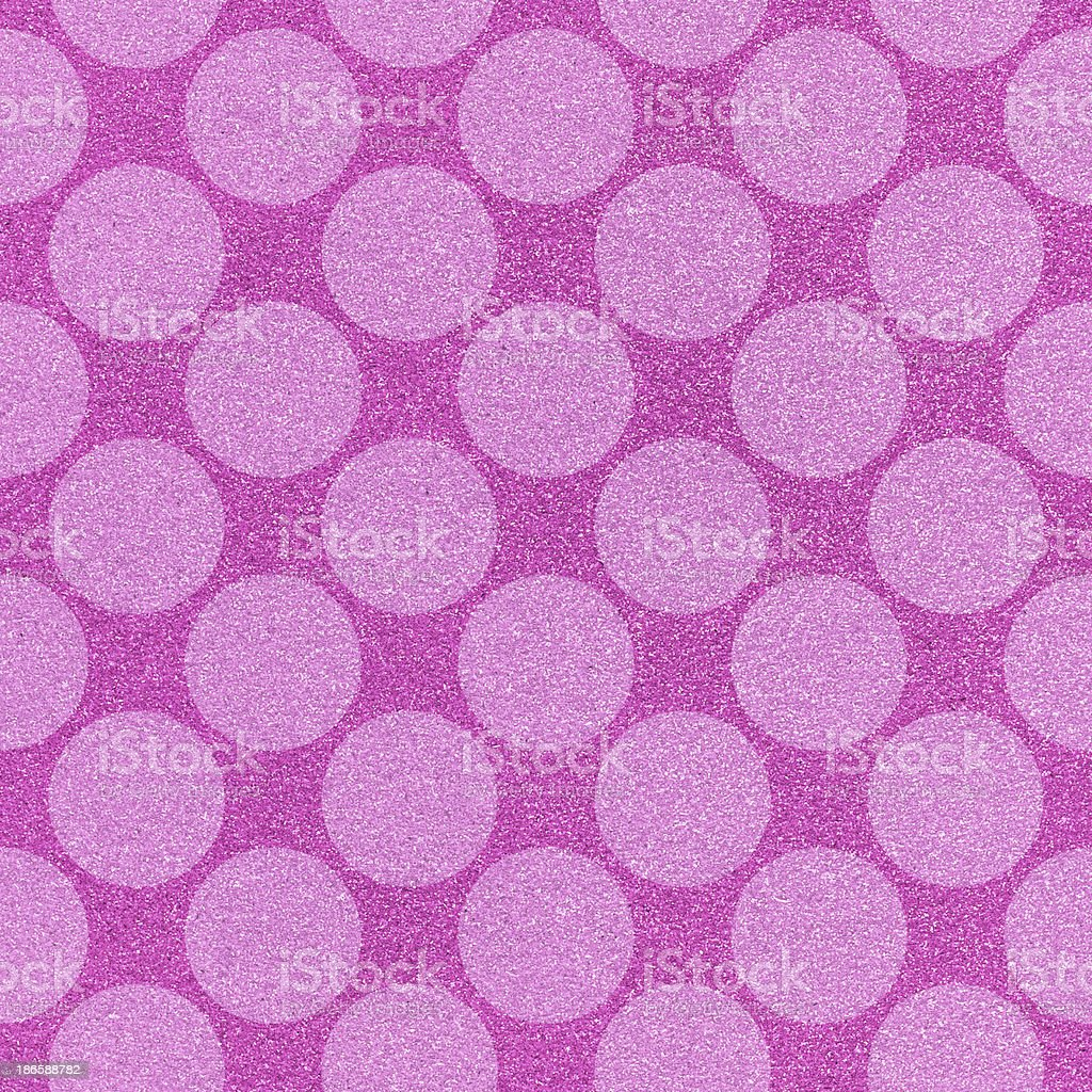 Seamless pink polka dots on glitter paper royalty-free stock photo