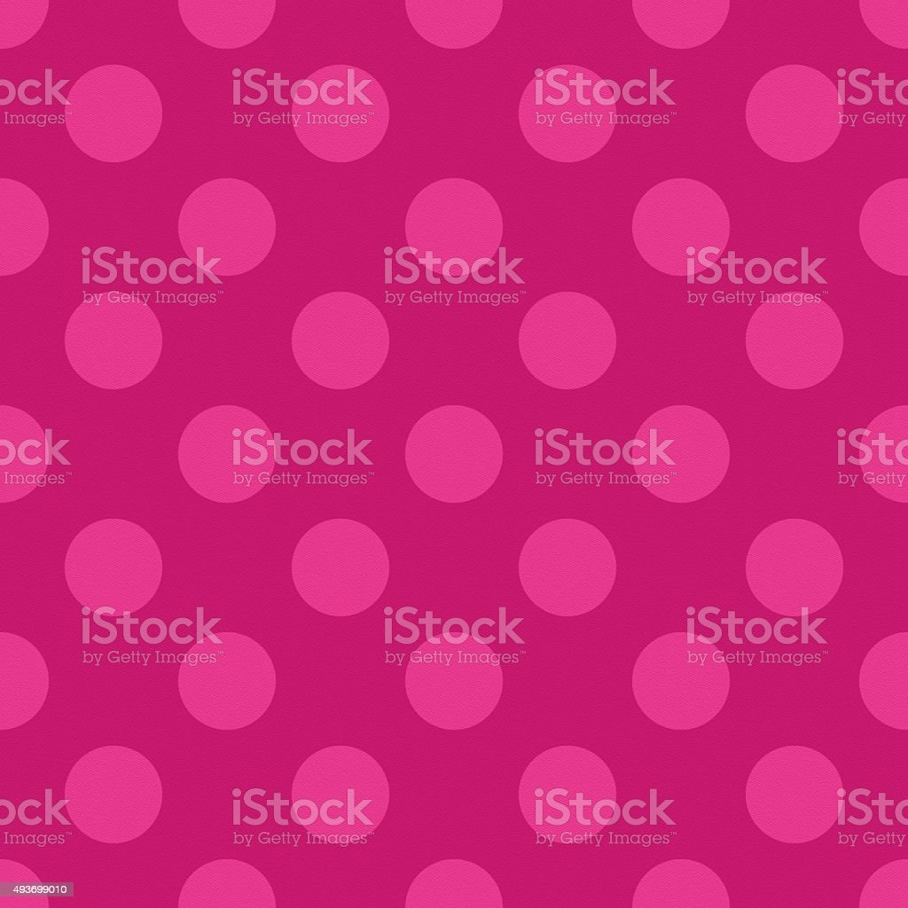 Seamless pink textured paper with polka dots stock photo