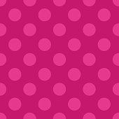 Seamless pink textured paper with polka dots