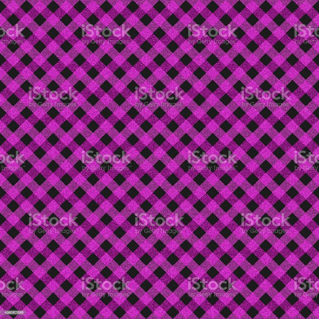 Seamless purple gingham pattern on black paper royalty-free stock photo