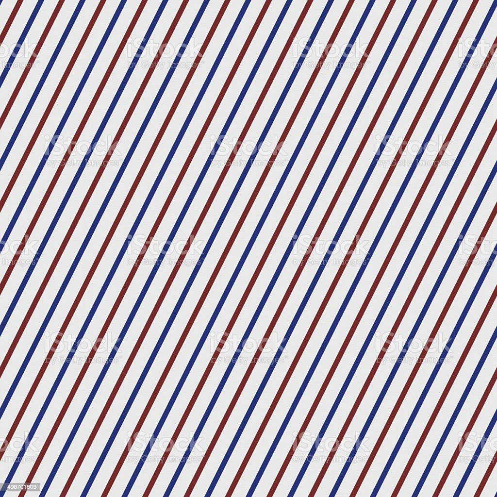 Seamless red and blue stripe pattern on white paper royalty-free stock photo