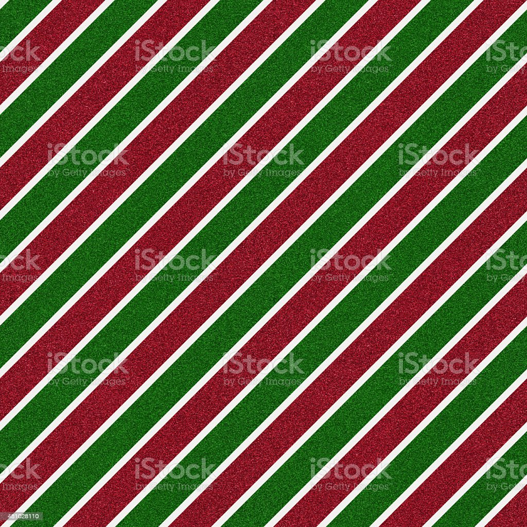Seamless red and green glitter stripes on white paper stock photo