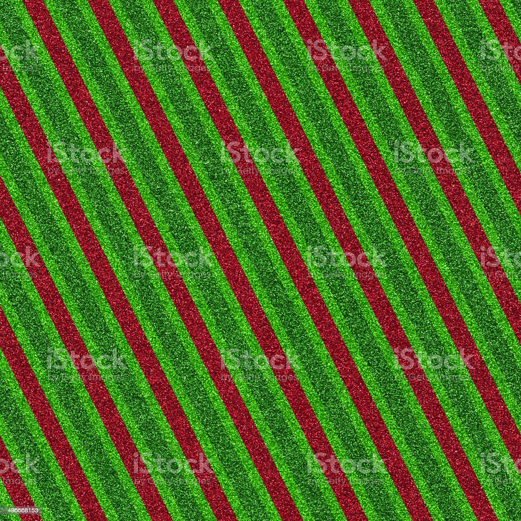 Seamless red and green glitter stripes stock photo