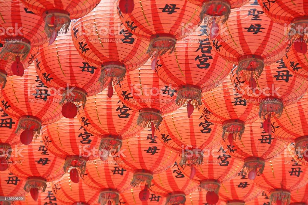 Seamless red lantern background royalty-free stock photo