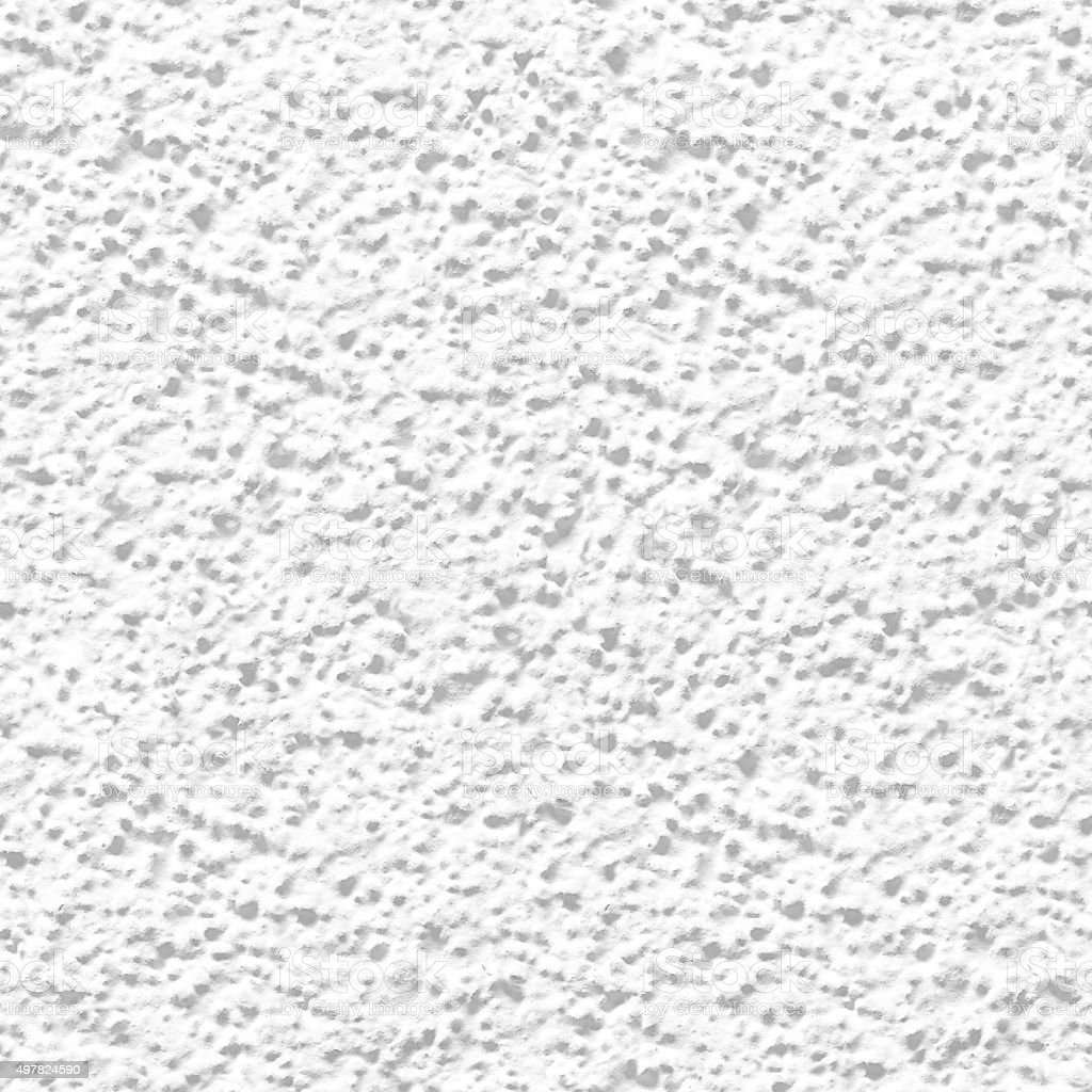 Seamless rugged irregular coarse grainy white facade material texture background stock photo