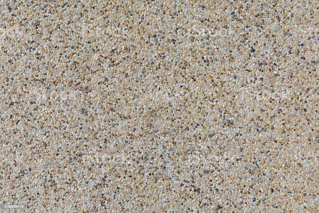 Seamless sand and small gravel stones texture background stock photo