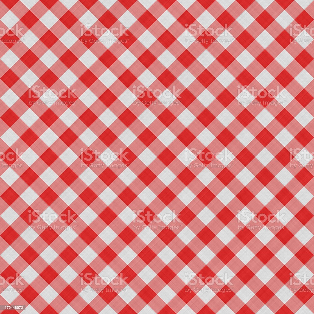 Seamless Squared Tablecloth Gingham Cotton Background | Fabric Wallpaper Pattern royalty-free stock photo