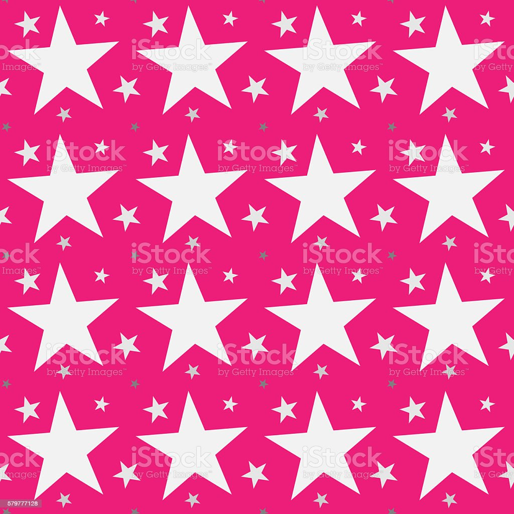 Seamless Star Shape pattern background stock photo