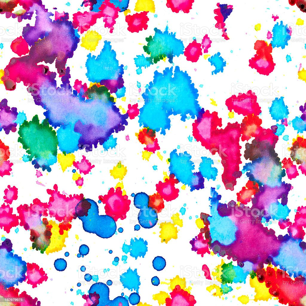 Seamless structure from color stains stock photo