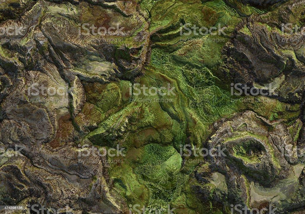 Seamless Terrain Texture Map stock photo