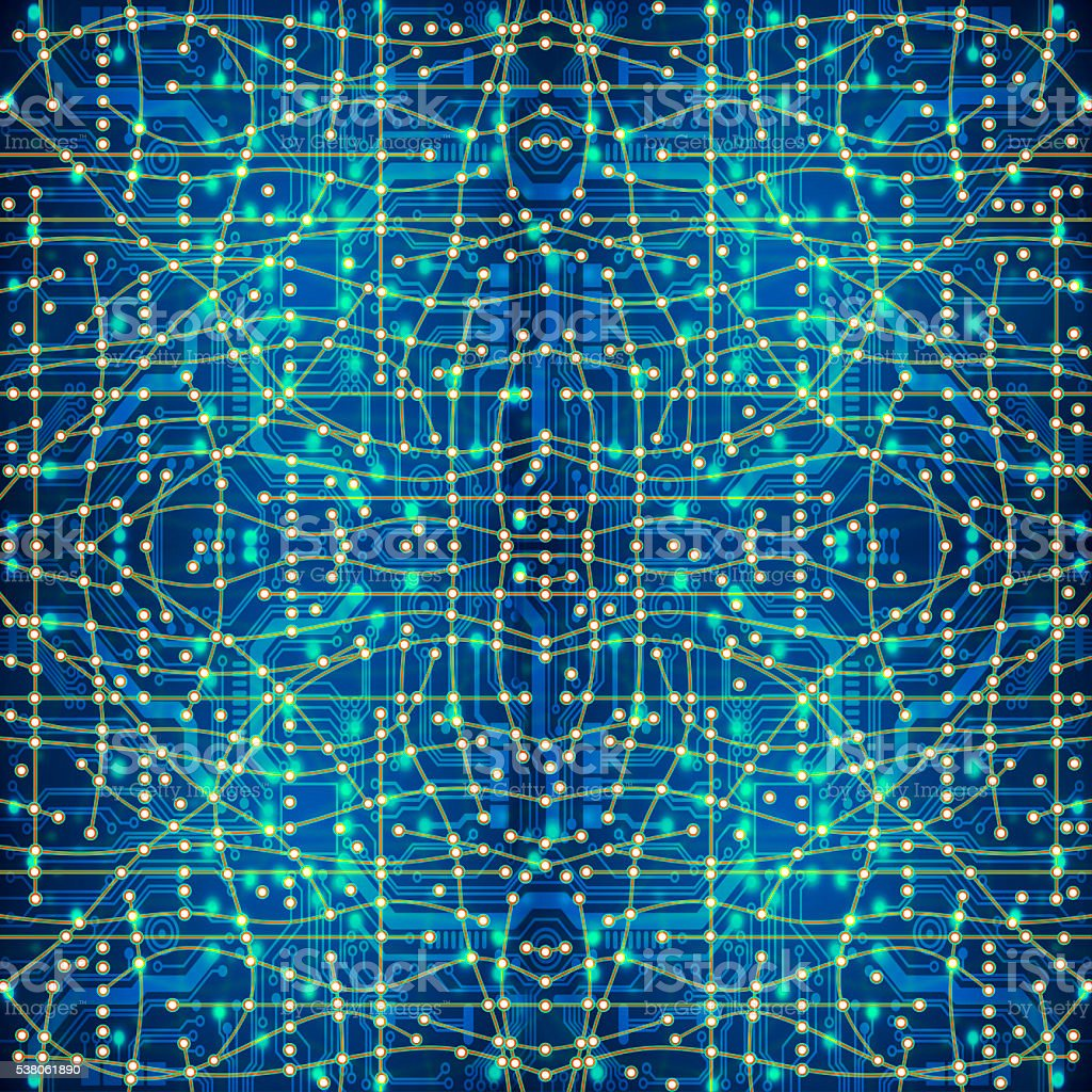 seamless texture of computer circuit board or electronic environ stock photo