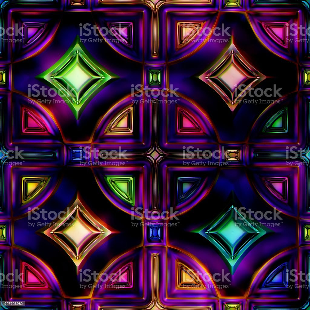 Seamless texture stained-glass window stock photo