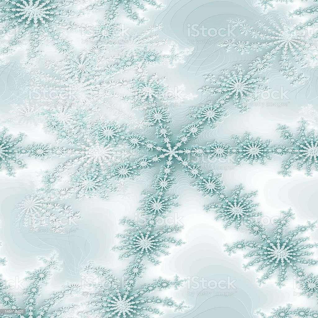 seamless texture teal snowflake royalty-free stock vector art