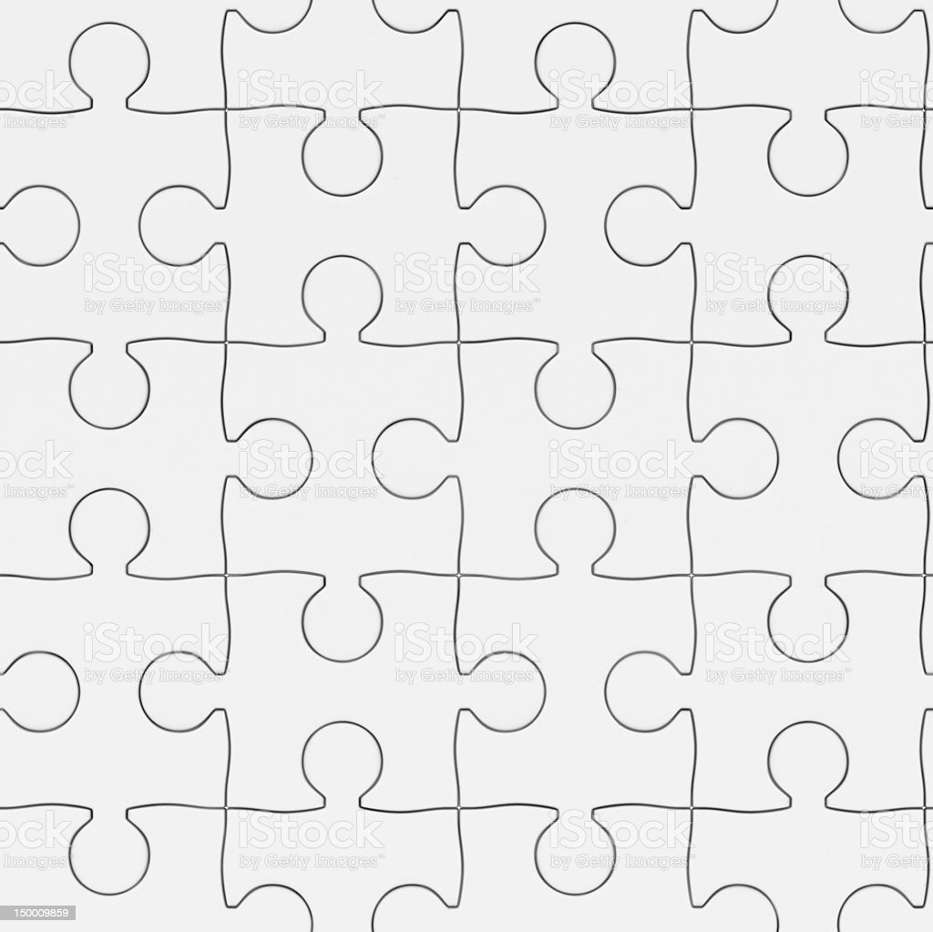 Seamless texture white puzzle. 3D image royalty-free stock photo
