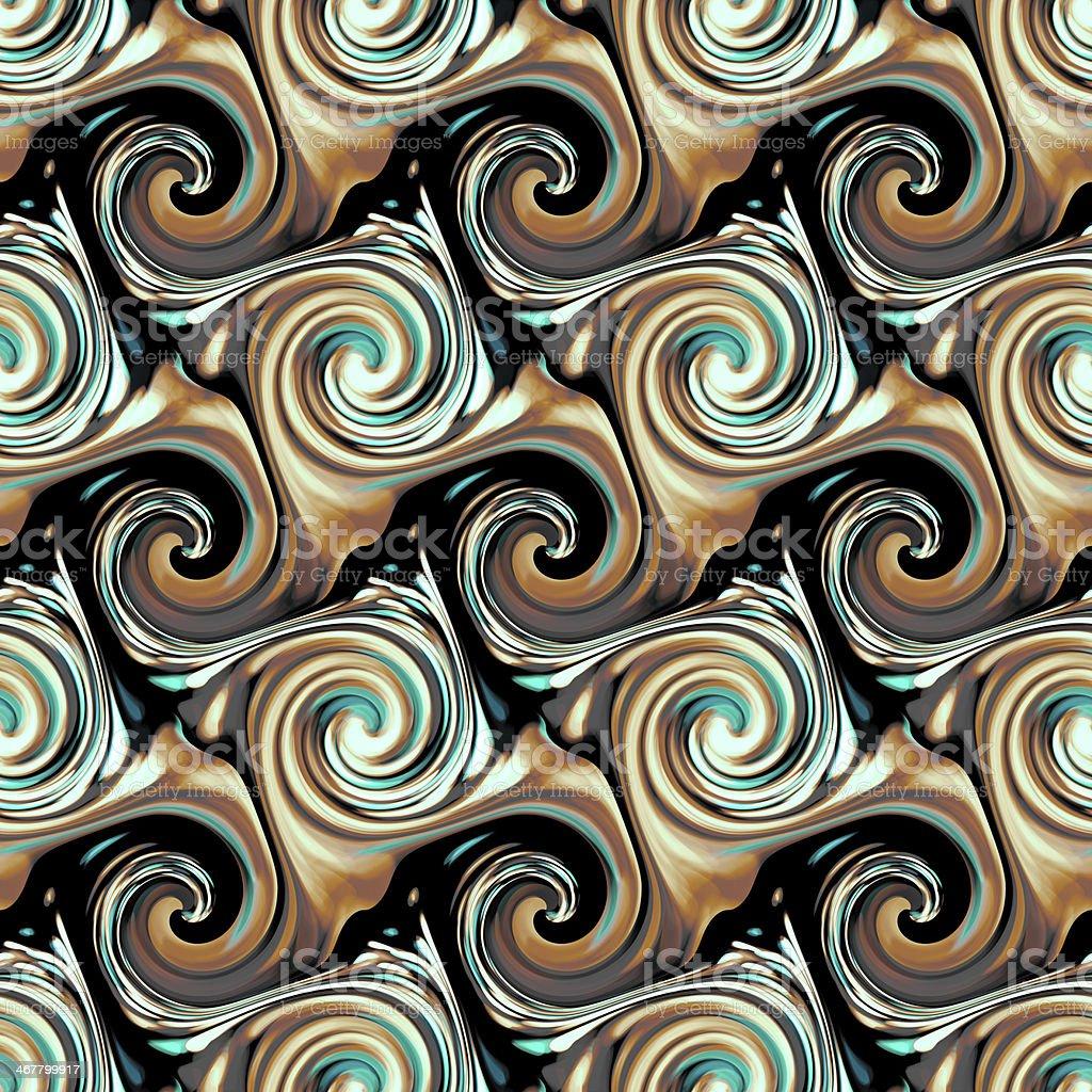 Seamless twirls abstract stock photo