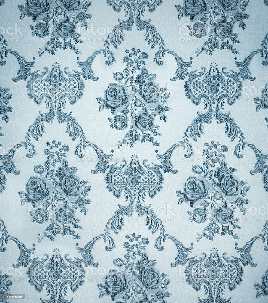 seamless wallpaper pattern , ornamental floral stock photo