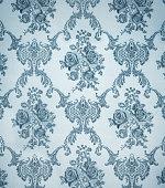seamless wallpaper pattern , ornamental floral