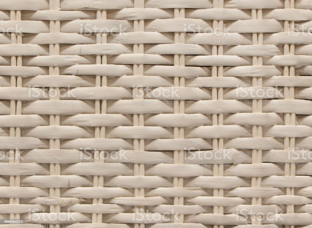 Seamless white bamboo wicker background, wicker texture stock photo