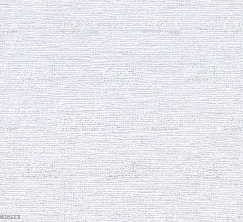 Seamless white canvas-textured paper background royalty-free stock photo