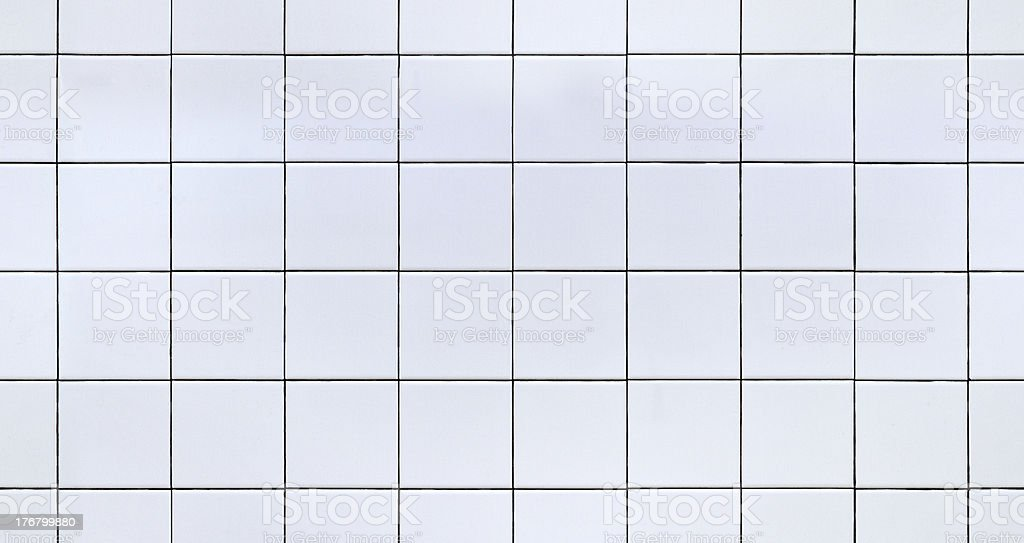 Seamless White Ceramic Tile stock photo