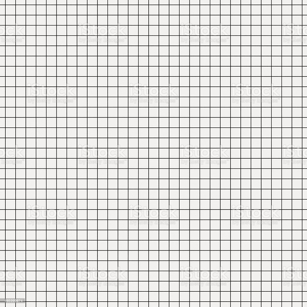 Seamless white graph paper with black lines vector art illustration