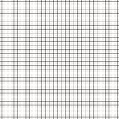 Seamless white graph paper with black lines