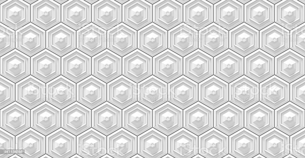 seamless white hexagon background stock photo