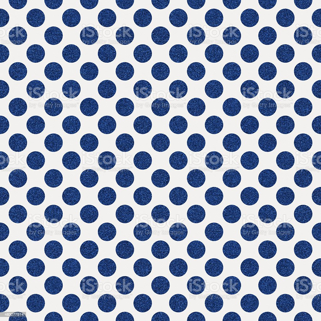 Seamless white paper with blue glitter dots stock photo
