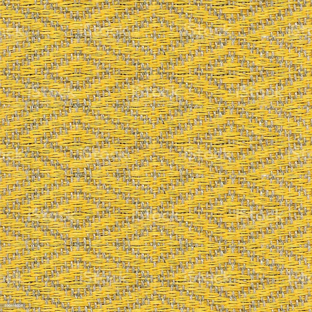 seamless yellow diamond pattern linen cloth texture stock photo