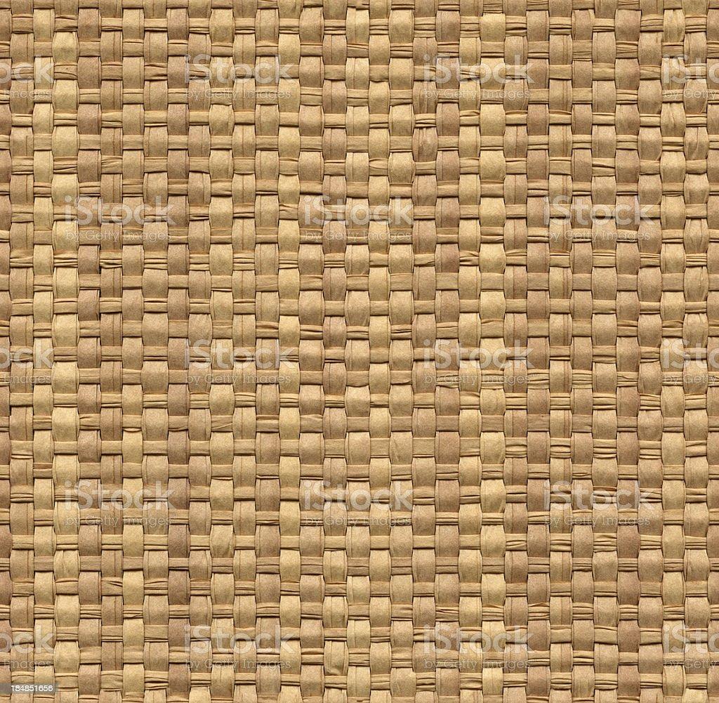 Seamless yellow wicker background stock photo