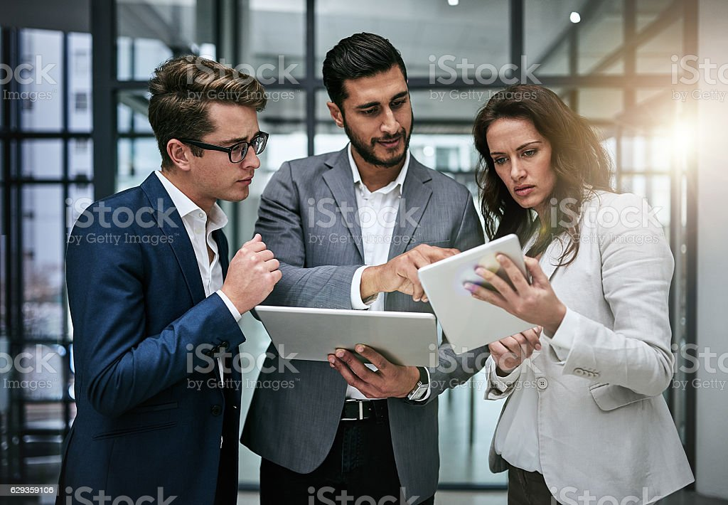Seamlessly connecting with colleagues stock photo