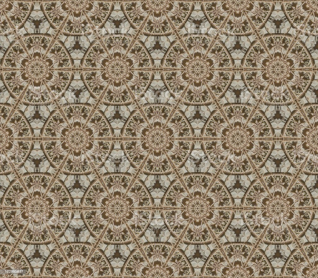 Seamlessly repeating lace pattern royalty-free stock photo