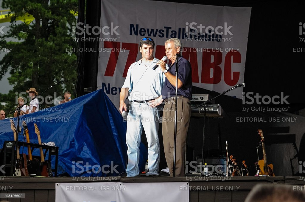 Sean Hannity Oliver North stock photo