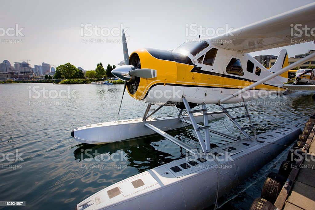 Seaplane at Lake Union Seattle royalty-free stock photo