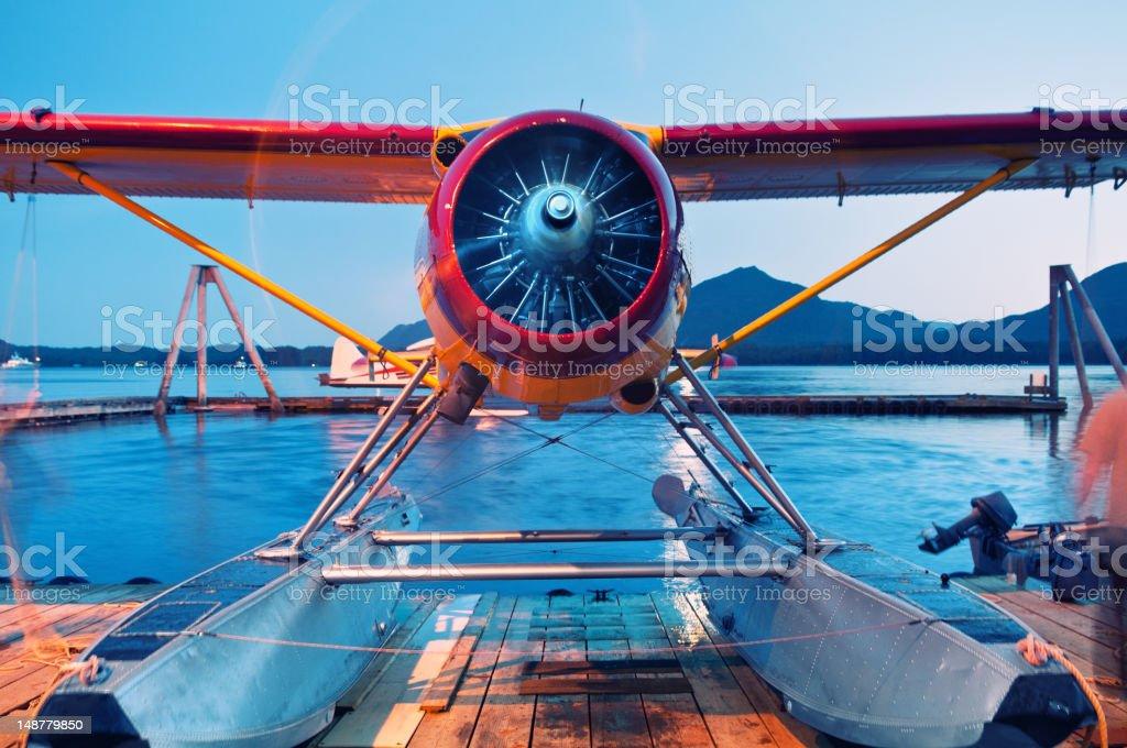 Seaplane Cooldown stock photo