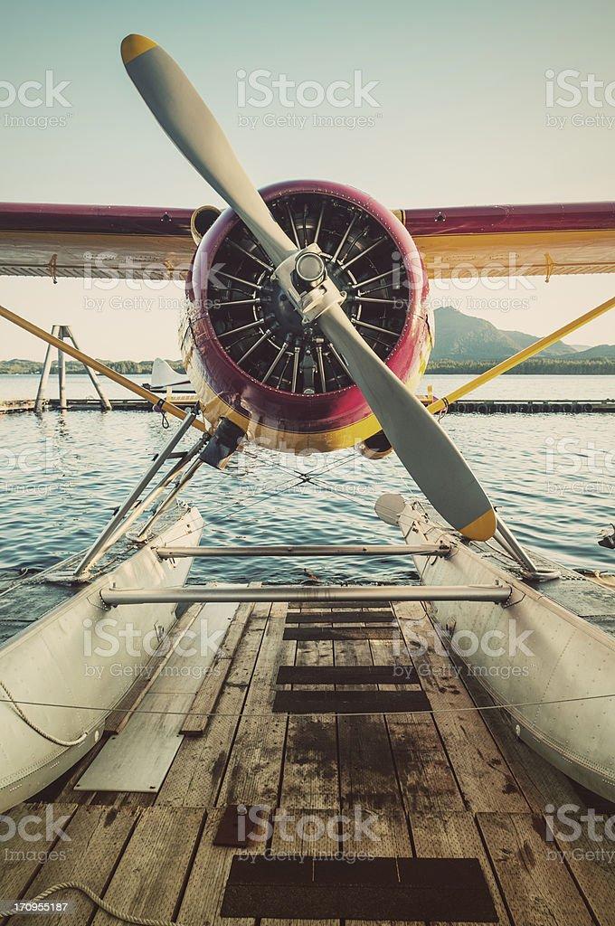 Seaplane Dock stock photo