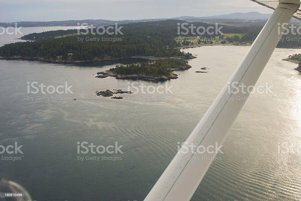 Seaplane flight in the San Juan's royalty-free stock photo
