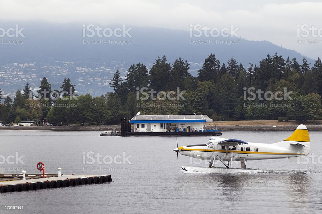 Seaplane on the water royalty-free stock photo