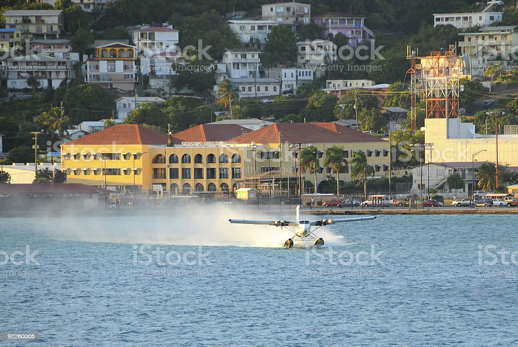Seaplane taking off royalty-free stock photo