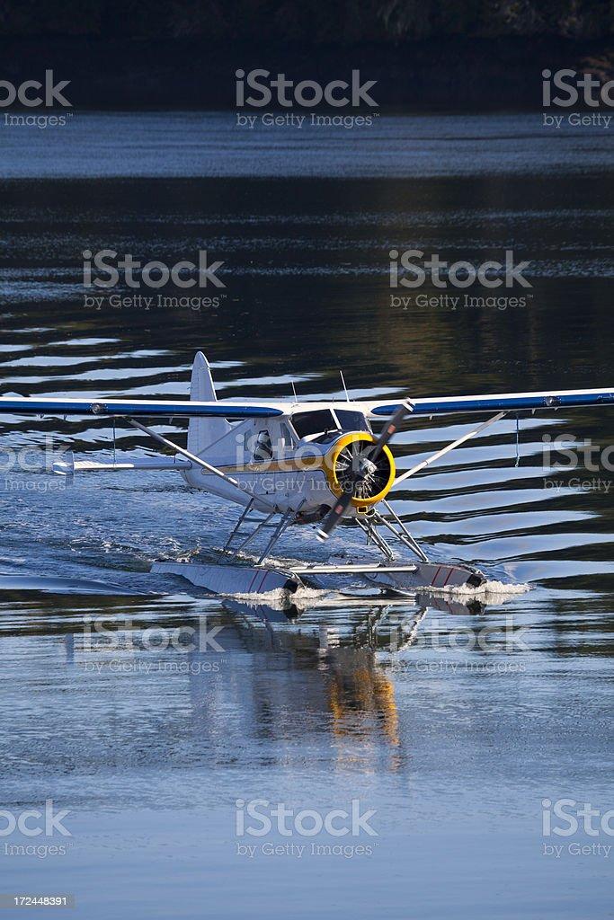 Seaplane Taxiing stock photo